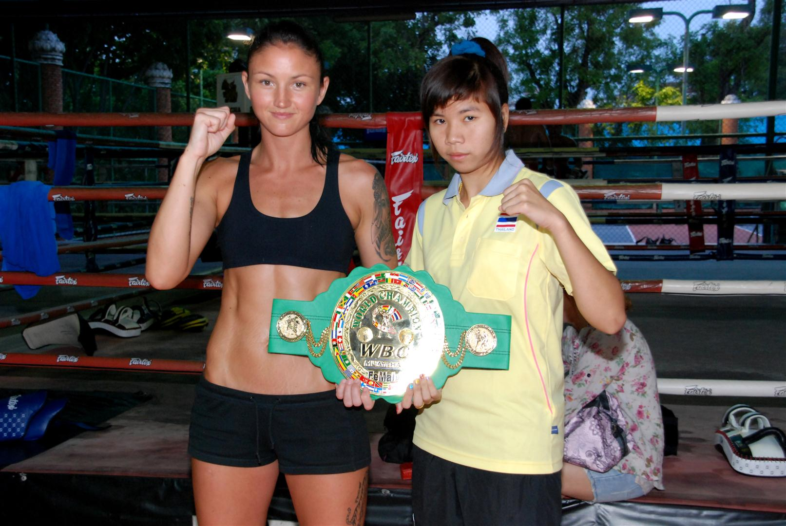 Julie Kitchen fighting for the WBC Belt