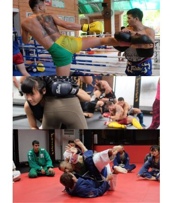 All Inclusive (Muay Thai once daily, BJJ, MMA if applicable, Sport Fitness)