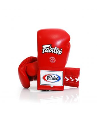Fairtex Pro Competition Gloves - Locked Thumb (Microfiber)-Red-6 oz.