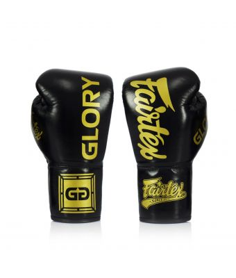 Fairtex X Glory Competition Gloves – Lace up-Black-8 oz.