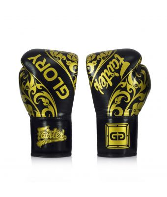 Fairtex X Glory Limited Edition Gloves – Lace up-Black-8 oz.