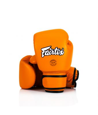 Real Leather Boxing Gloves-8 oz.-Orange