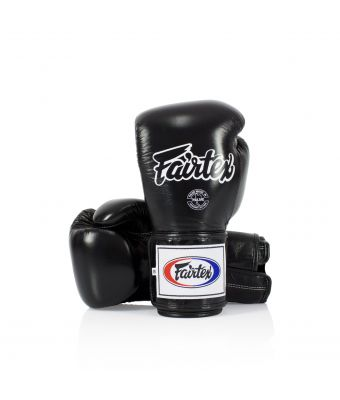 Super Sparring Gloves - Locked Thumb-Black-10 oz.