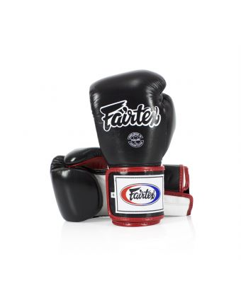 Super Sparring Gloves - Locked Thumb-10 oz.-Black/White/Red