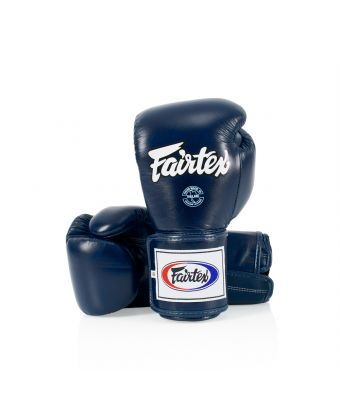 Super Sparring Gloves - Locked Thumb-Blue-10 oz.