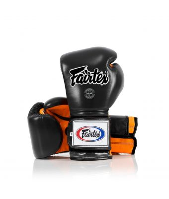 Heavy Hitter's Gloves - Mexican Style-Black/Orange-10 oz.