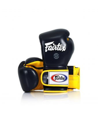 Heavy Hitter's Gloves - Mexican Style-Blue/Yellow-10 oz.