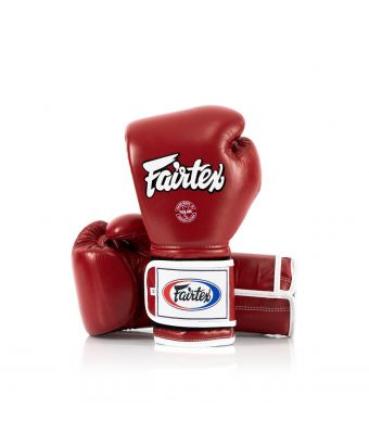 Heavy Hitter's Gloves - Mexican Style-Red/White-10 oz.