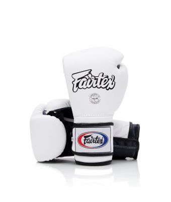Heavy Hitter's Gloves - Mexican Style-White/Blue-10 oz.