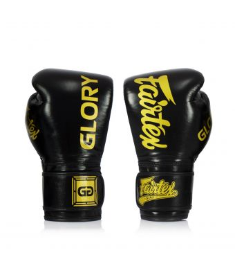 Fairtex X Glory Competition Gloves – Velcro -Black-8 oz.