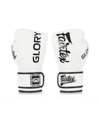 Fairtex X Glory Competition Gloves – Velcro -White-8 oz.