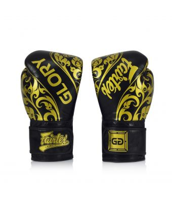 Fairtex X Glory Limited Edition Gloves – Velcro-Black-8 oz.