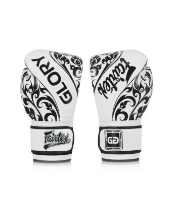 Fairtex X Glory Limited Edition Gloves – Velcro-White-8 oz.