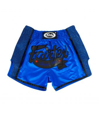 Muay Thai Shorts-BS1702-BLUE-S