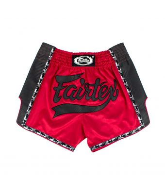 Muay Thai Shorts-BS1703-Red/Black-S
