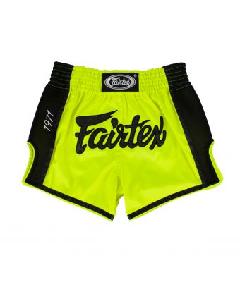 Muay Thai Shorts-BS1706-Lime Green-S