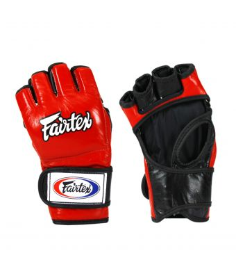 "Ultimate Combat Gloves with ""Open Thumb Loop""-M-Red/Black"