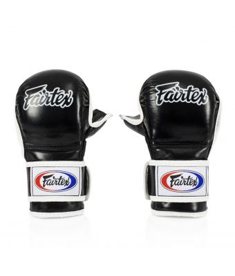 Sparring Gloves – Double Wrist Wrap Closure-Black-S