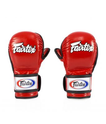 Sparring Gloves – Double Wrist Wrap Closure-Red-S