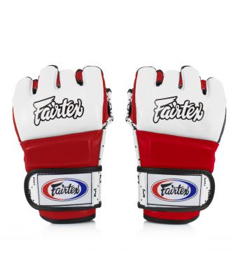 Super Sparring Gloves-White/Red-S