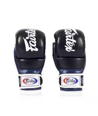 Super Sparring Grappling Gloves -Black/Blue-S