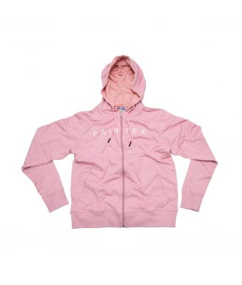 Fairtex Hooded Sweatshirts (Zipper)-Pink-S