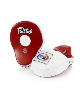 The Ultimate Contoured Focus Mitts-Red/White