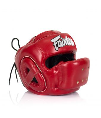 Full Face Protector Headguard-M-Red