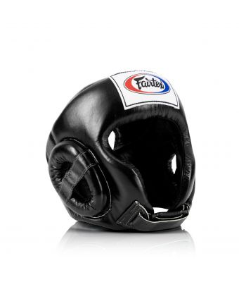 Muay Thai Competition Headguard-Black-M