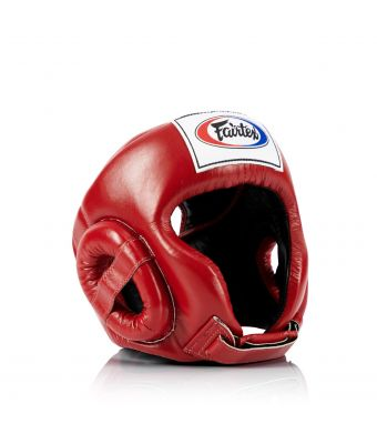 Muay Thai Competition Headguard-Red-M