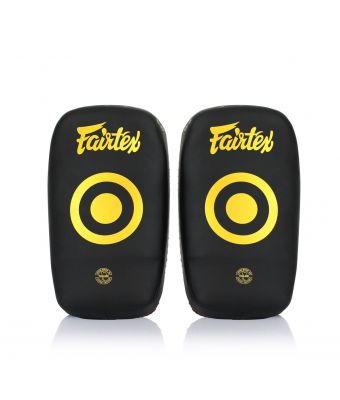 Microfiber Curved Kick Pads - Small-Black/Gold