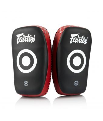 Microfiber Curved Kick Pads - Small-Black/Red