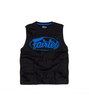 Fairtex Cotton Jersey - MTT27-Black/Blue-XS