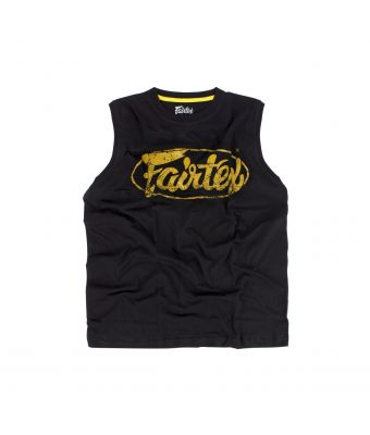 Fairtex Cotton Jersey - MTT27-Black/Gold-XS