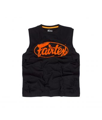 Fairtex Cotton Jersey - MTT27-Black/Orange-XS