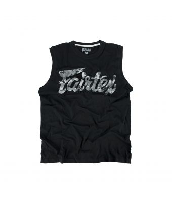 Fairtex Camo Cotton Jersey-Black/Gray Camo-XS