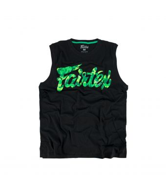 Fairtex Camo Cotton Jersey-Black/Green Camo-XS