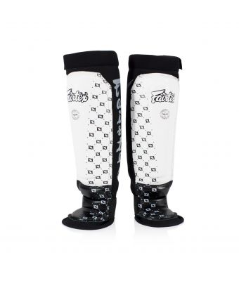 Neoprene Shin Pads-M-White/Black
