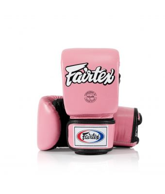 Super Sparring Bag Gloves - Open Thumb-Pink/Black-M