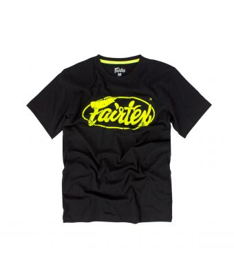 Fairtex T-Shirt - TST148-Black/Light Green-S