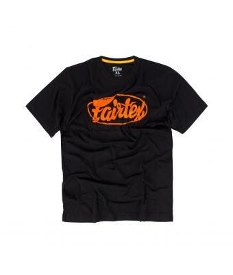 Fairtex T-Shirt - TST148-Black/Orange-S