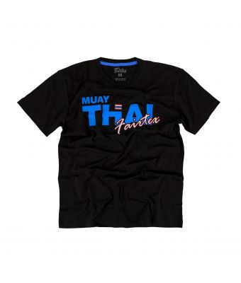 Fairtex T-Shirt - TST178-Black/Blue-XS