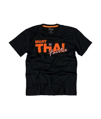 Fairtex T-Shirt - TST178-Black/Orange-XS