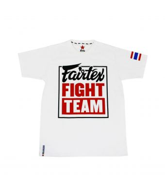 "Fairtex T-Shirt ""Fairtex Fight Team""-White/Red-S"