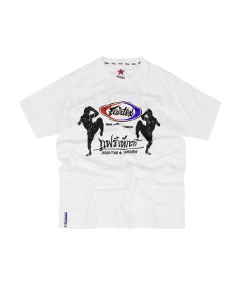 Fairtex T-Shirt - Fairtex Knee-Up-White-S