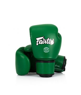 Real Leather Boxing Gloves-8 oz.-Green
