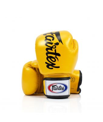 DELUXE TIGHT-FIT GLOVES-Gold-8 oz.