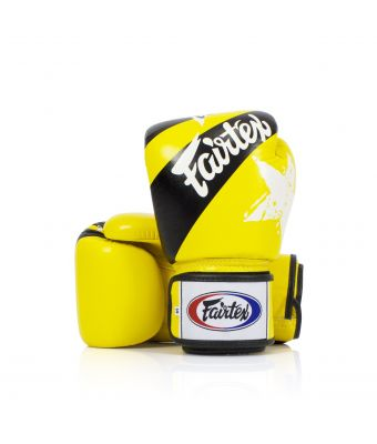 "[50% off] 12 oz. Universal Gloves ""Tight-Fit"" Design -Nation Prints-Yellow"