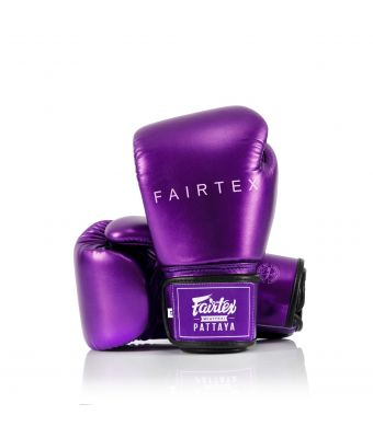 """Metallic"" Boxing Gloves-Metallic Purple-8 oz."