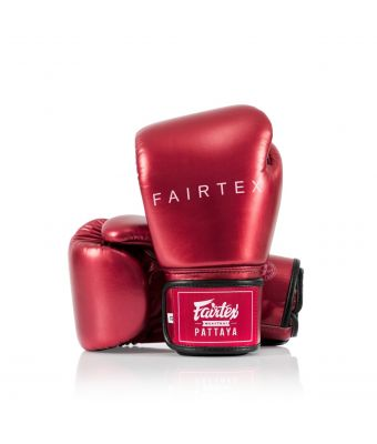 """Metallic"" Boxing Gloves-Metallic Red-8 oz."